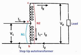step up autotransformer diagram