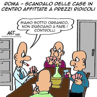 affittopoli, roma, case popolari, controlli, satira, vignetta