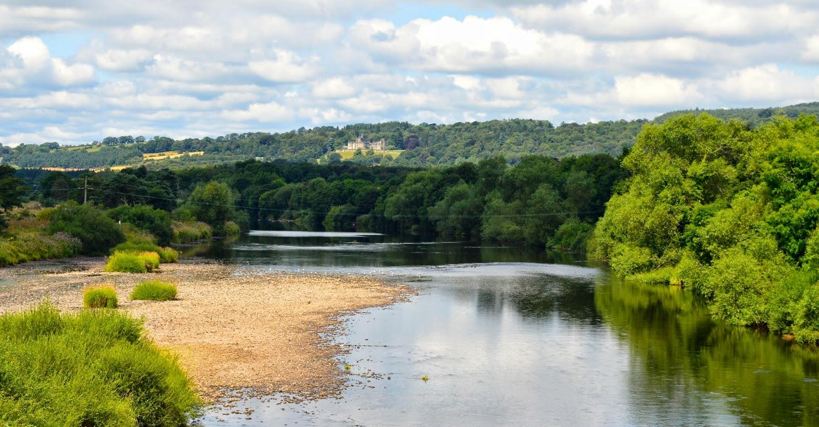 paddling in the river at corbridge
