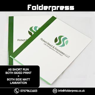 A5 Short Run Folders printing + Both side Matt Lamination