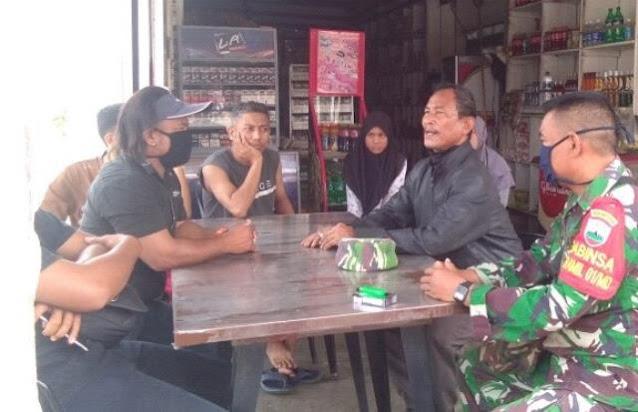 Guna Menekan Penyebaran Covid-19, Personel Jajaran Kodim 0207/Simalungun Laksanakan Komsos