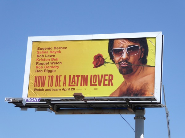 How to be a Latin Lover movie billboard
