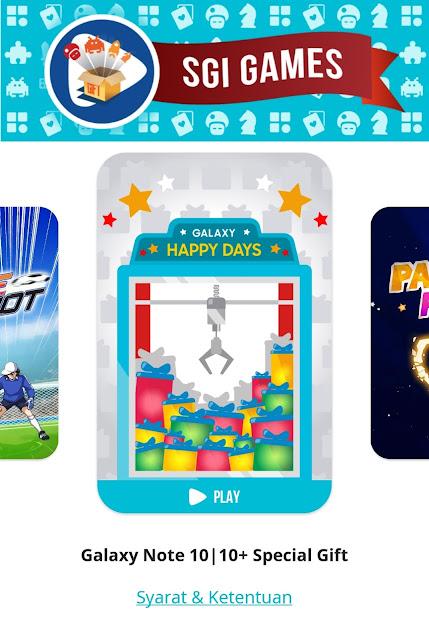 Khusus Samsung Galaxy Note 10 atau 10+ Special Gift Capit Berhadiah Promo