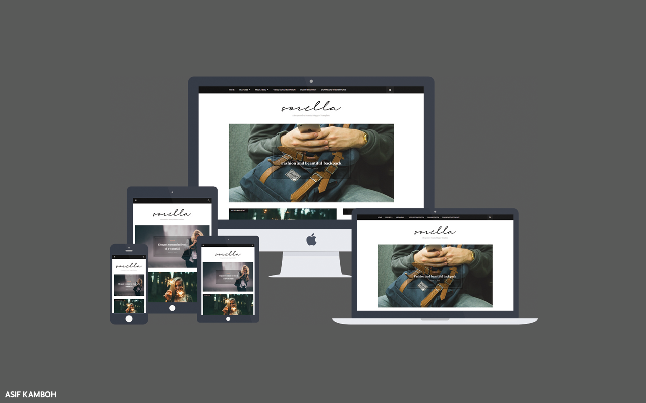 Sorella Premium Blogger Template