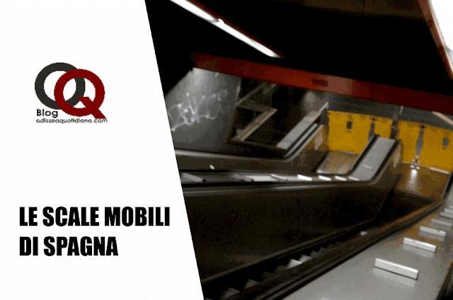 Le scale mobili della stazione Spagna