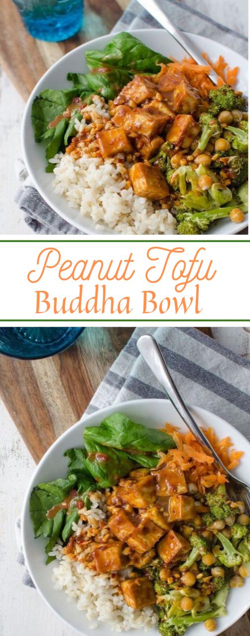 Peanut Tofu Buddha Bowl  #vegetarian #buddha #bowl #peanut #easy