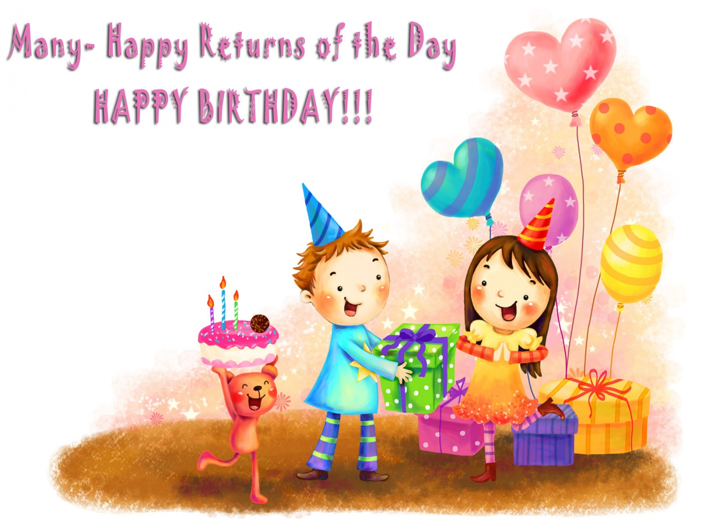 Happy birthday sister greeting cards hd wishes wallpapers - Happy birthday card wallpaper ...