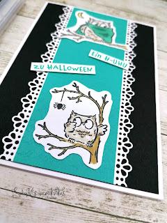 Stempelset Eulenfest; Stanzformen dekorative Bordüren; Prägeform Schreibschrift 3D