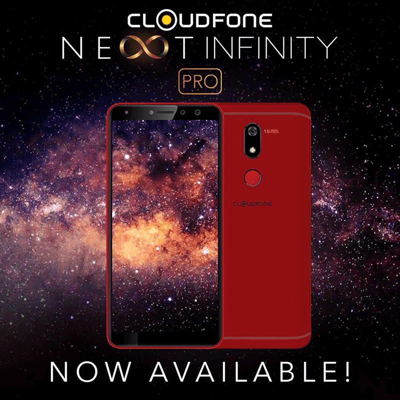 "Cloudfone claimed that the Next Infinity Pro in Red is an ""Awesome"" Valentine's gift"