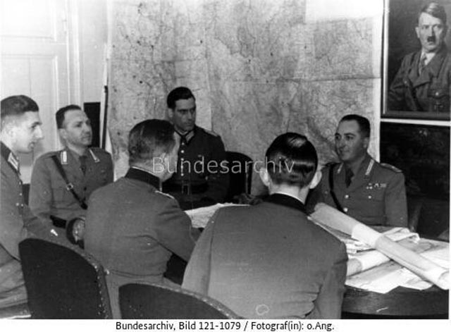 Italian police officers at a conference in Berlin, 9 March 1942 worldwartwo.filminspector.com