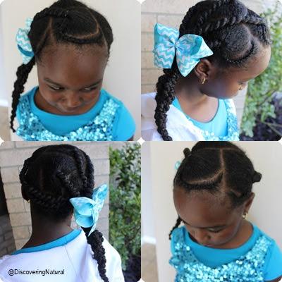 TUTORIAL: Threaded Cornrow Hairstyle (African Threading) Natural Hair Kids
