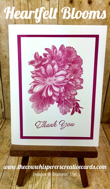 Card, Heartfelt Blooms, Berry Burst, Stampin UP