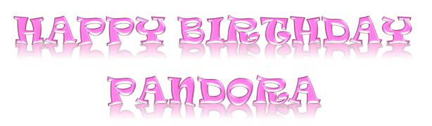 Pandora's Birthday Banner  ©BionicBasil®