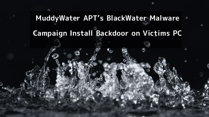 MuddyWater APT's BlackWater Malware Campaign Install Backdoor on Victims PC to Gain Remote Access & Evade Detection