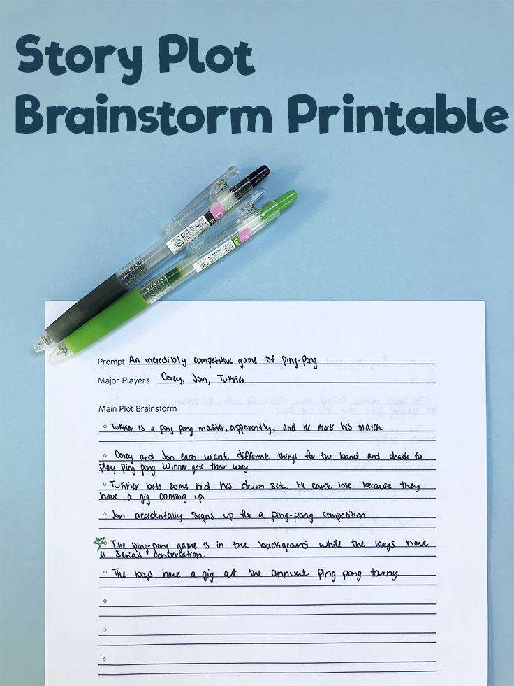 creative writing prompt worksheet