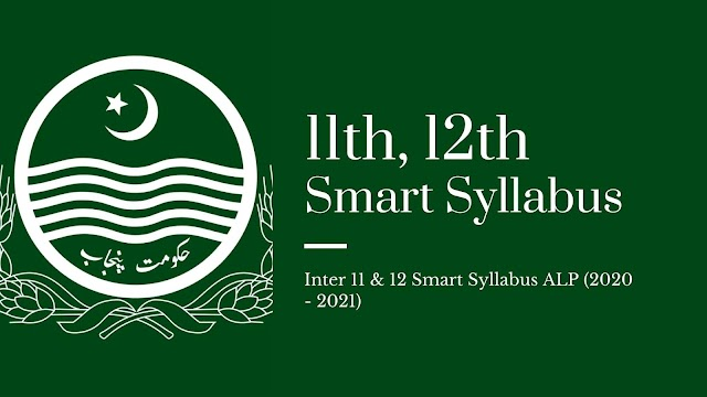 Inter 11 & 12 Smart Syllabus ALP (2020 - 2021)