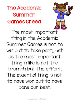 "The ""Summer Games"" are Complete! This is a review of a week's worth of Academic Olympics to end the school year, including a freebie!"