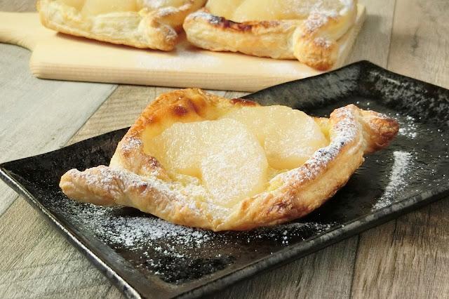 冷凍パイシートで簡単!梨のカスタードパイ
