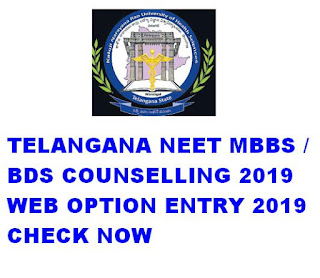 TS NEET Counselling 2019 Web Option Entry Rank wise 1
