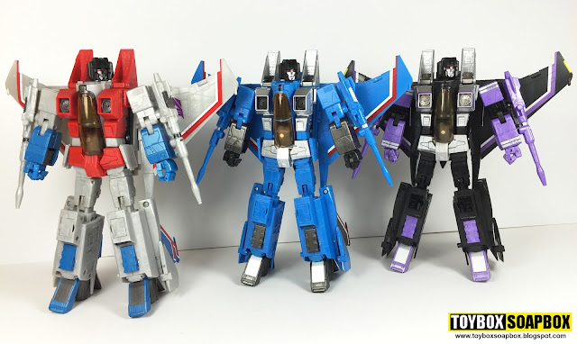 Masterpiece thundercracker starscream and skywarp