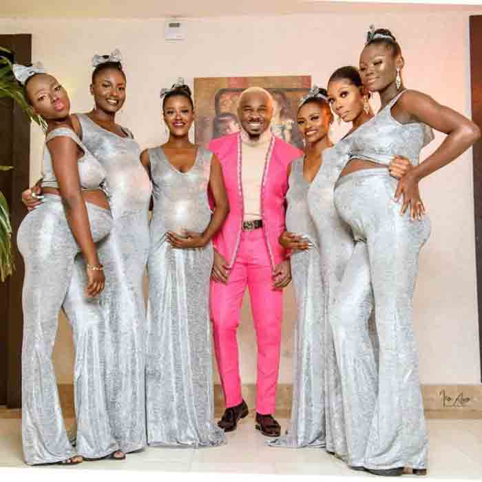 BIG DADDY Nigerian playboy rocks up to wedding with SIX PREGNANT women claiming he is the father of ALL the kids, News, Nigeria, Lifestyle & Fashion, Controversy, Pregnant Woman, World