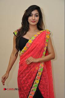 Actress Vaibhavi Joshi Pictures in Red Saree at Guntur Talkies 2 Movie Opening  0038.JPG