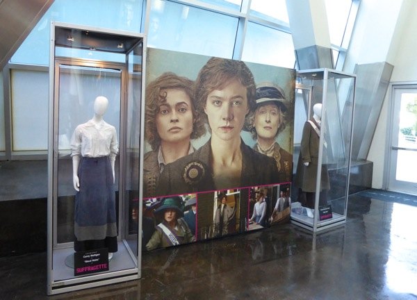 Suffragette movie costume exhibit