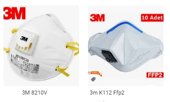 N95 solunum maskeleri