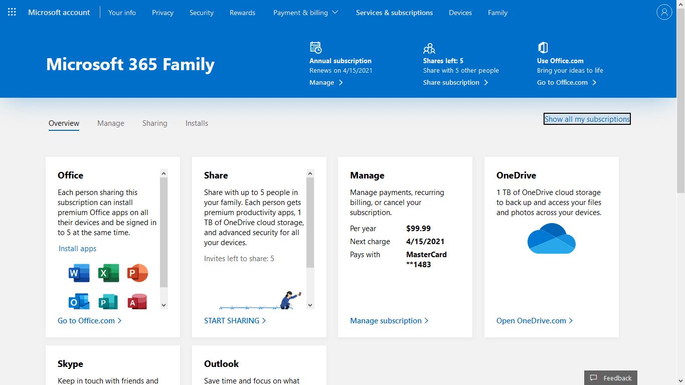 Akun Microsoft Office 365