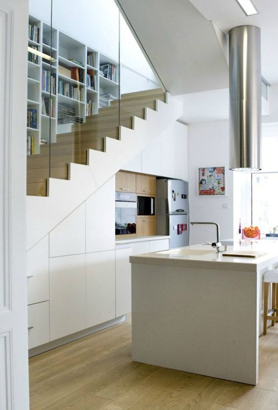 Kitchen Under Stairs Design Space Saving Solution For Small House