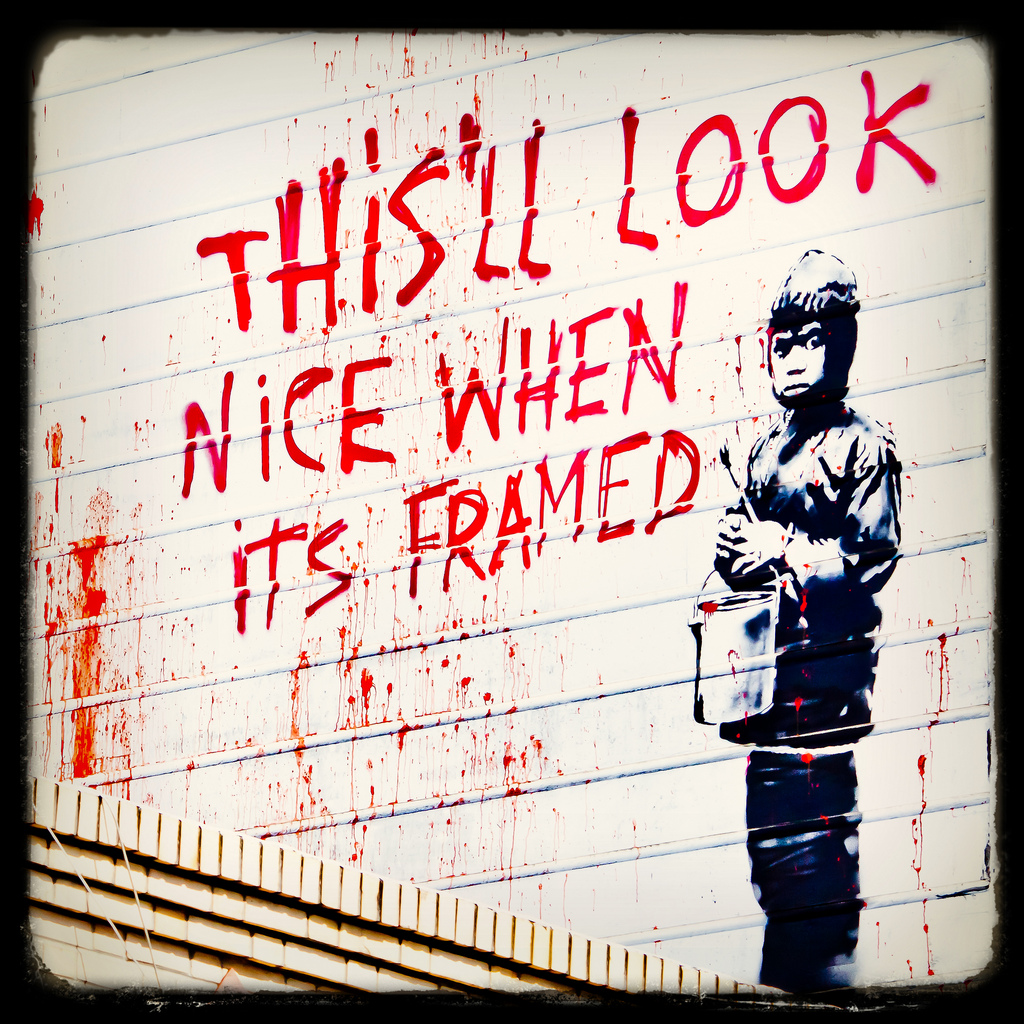 Coolest Banksy Graffiti - Wonderful
