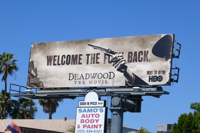 Deadwood Movie billboard