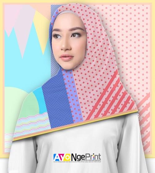 Cetak Kerudung Jilbab Hijab Custom Full Print di Ciracas, Jakarta Timur