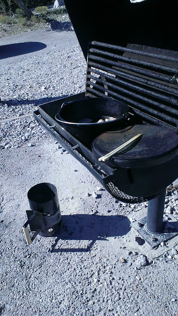 Dutch Oven, Barbeque grill, and coal starter units