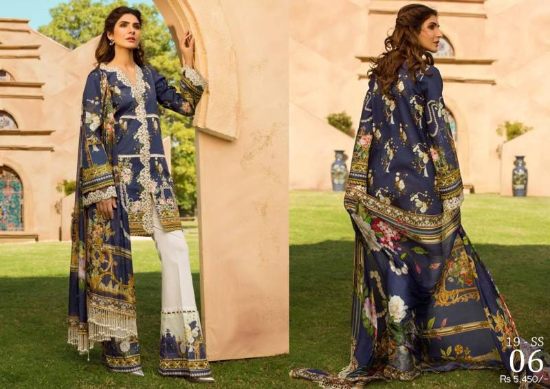 Firdous Bliss Lawn 2020 with Embroidered Chiffon Dupatta