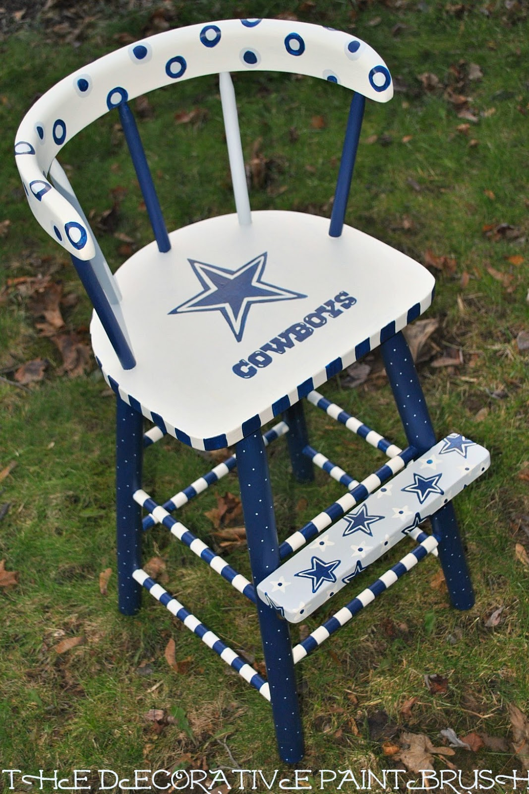 Dallas Cowboy Chair The Decorative Paintbrush Designs By Mary Mollica I 39m