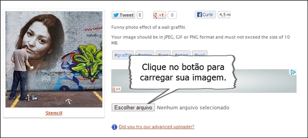 carregar foto grafite online