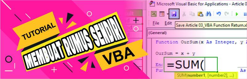 Custom Function - membuat fungsi custom excel