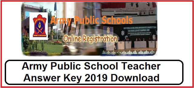 Army Public School Teacher Answer Key 2019