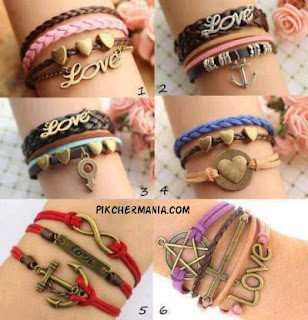 five different love bangles
