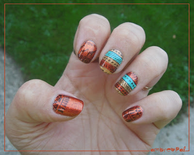 Aztec nails and Negative space