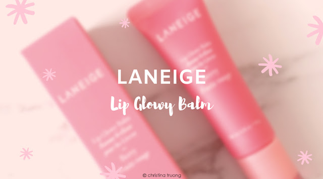 Laneige Lip Glowy Balm in Berry. First Impression Lip Care Review and Swatch