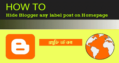 কিভাবে ব্লগের Homepage থেকে Label Posts Hide করতে হয়?