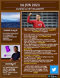 Daily Malayalam Current Affairs 16 Jun 2021