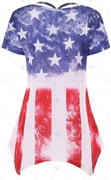 American Flag Short Sleeve T-shirt - M