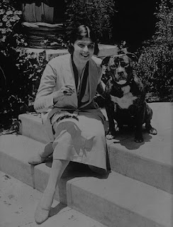 Virginia Rappe With Her Dog