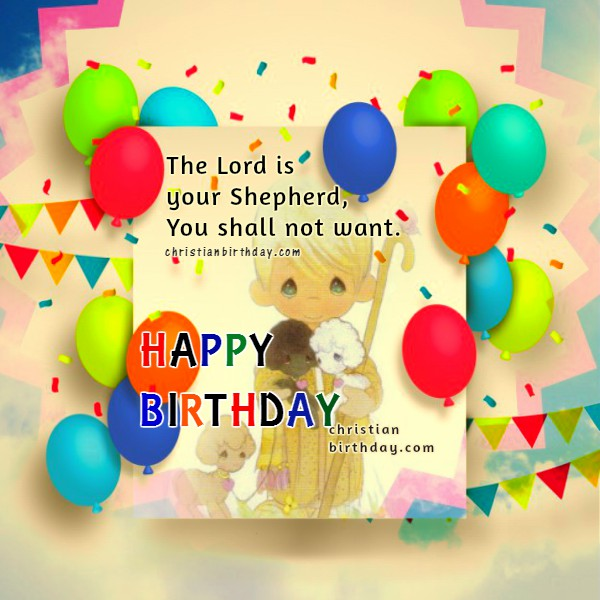 Happy Birthday Bible Quotes: Birthday Greetings With Nice Christian Card