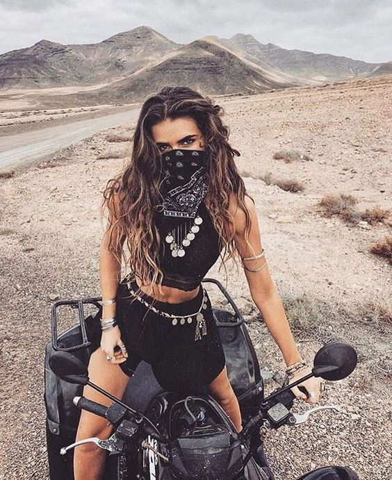 ATV Riding, Bandana Face Mask