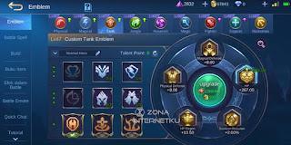The sickest and strongest Uranus tank emblem in Mobile Legends Talent Tenacity