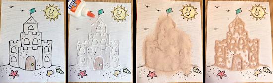 Sandcastle craft, sandcastle storytime